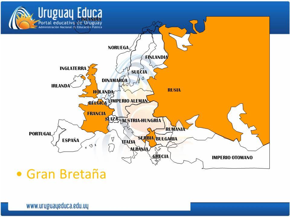 Gran Bretaña ISLANDIA NORUEGA FINLANDIA INGLATERRA SUECIA DINAMARCA