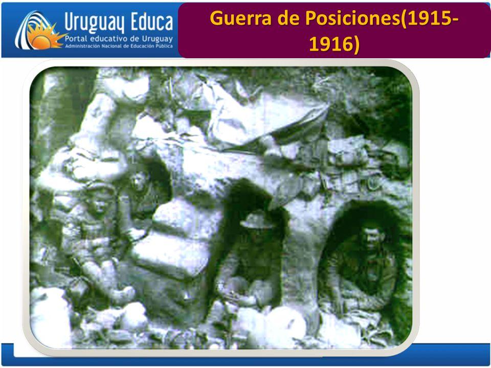 Guerra de Posiciones(1915-1916)