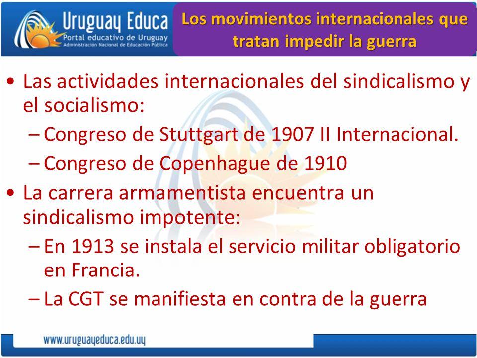 Los movimientos internacionales que tratan impedir la guerra