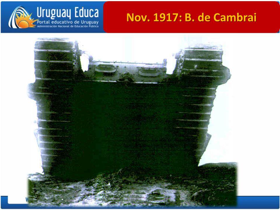 Nov. 1917: B. de Cambrai