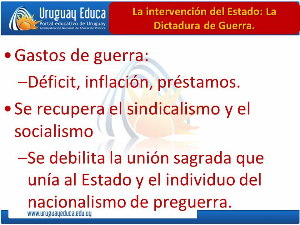 La intervención del Estado: La Dictadura de Guerra.