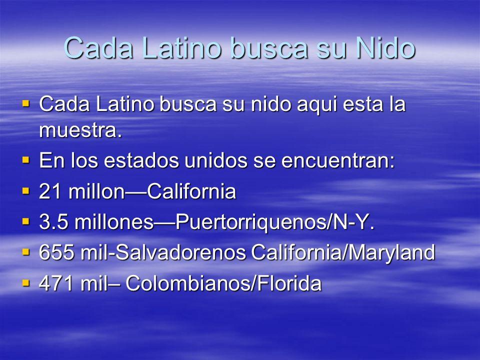 Cada Latino busca su Nido