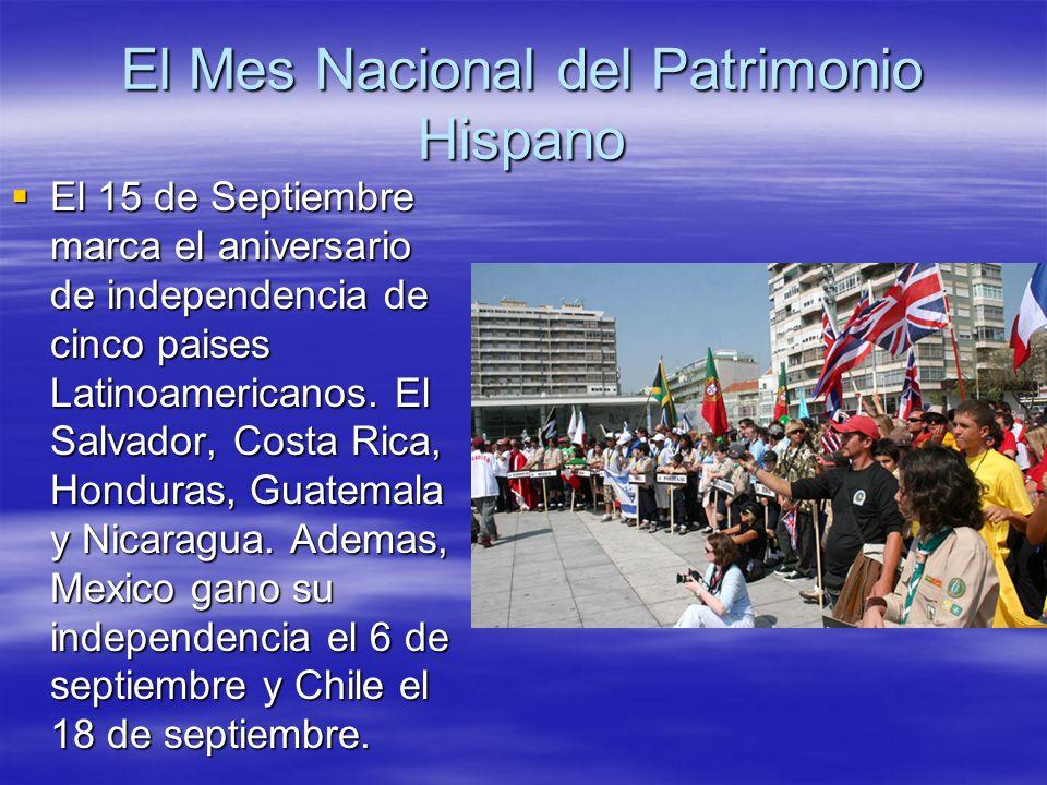 El Mes Nacional del Patrimonio Hispano