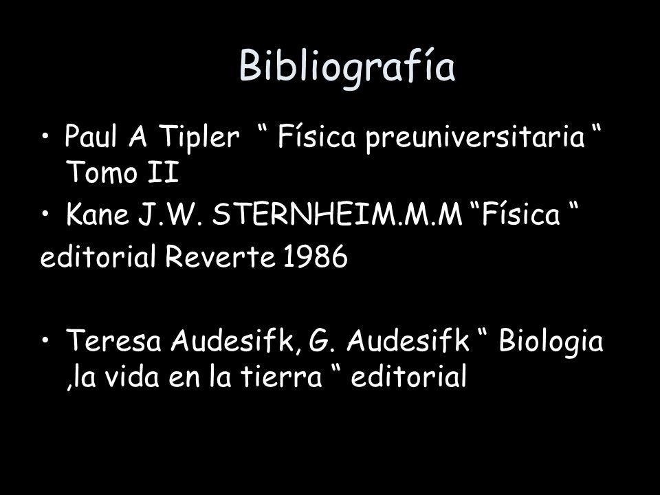 Bibliografía Paul A Tipler Física preuniversitaria Tomo II