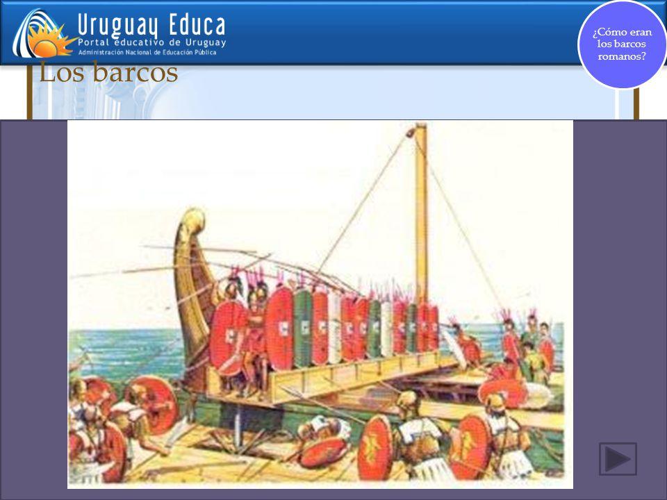 ¿Cómo eran los barcos romanos