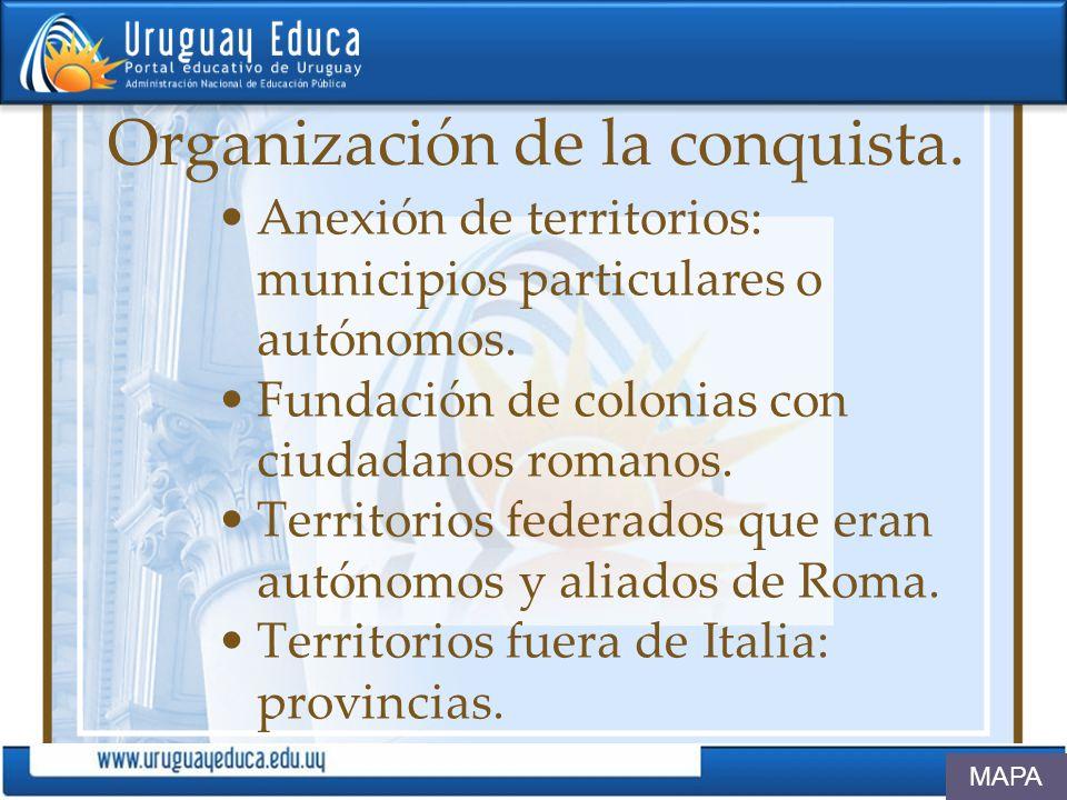 Organización de la conquista.