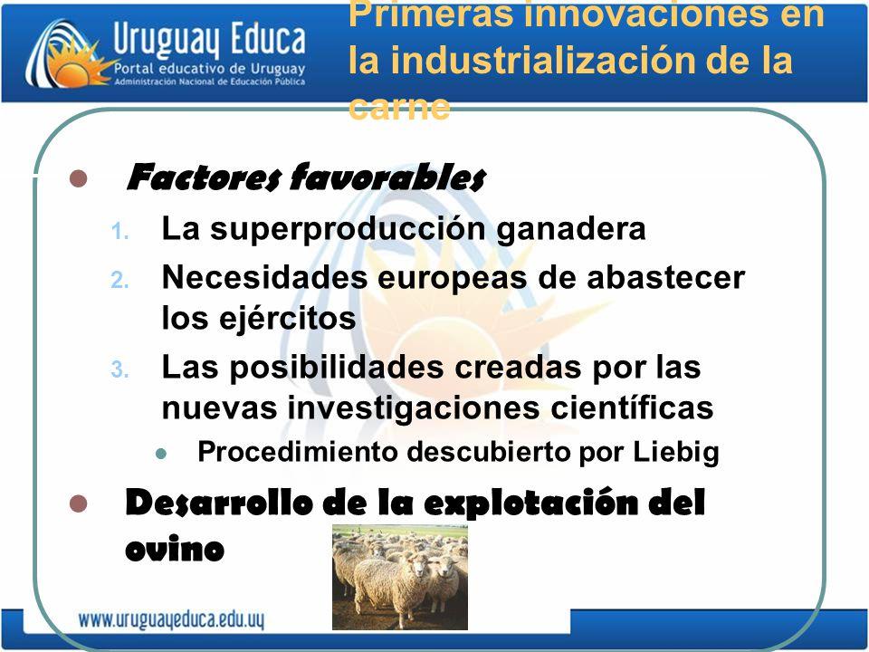 Primeras innovaciones en la industrialización de la carne