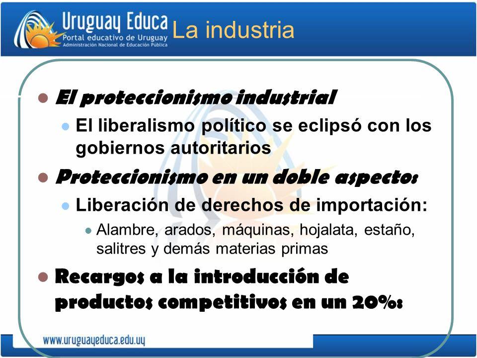 La industria El proteccionismo industrial