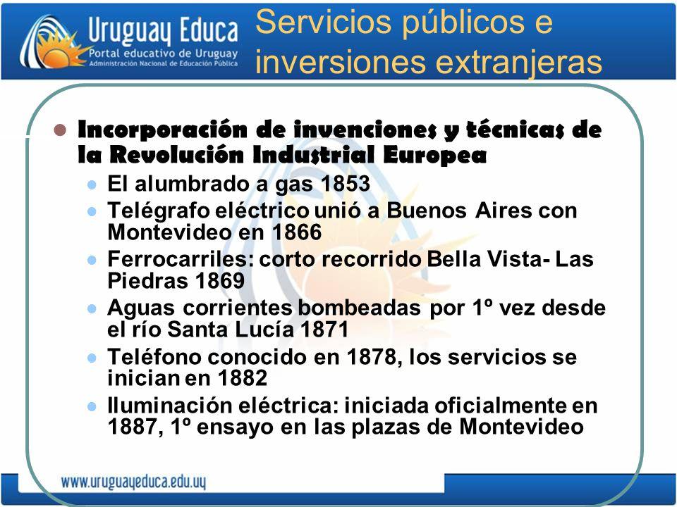 Servicios públicos e inversiones extranjeras