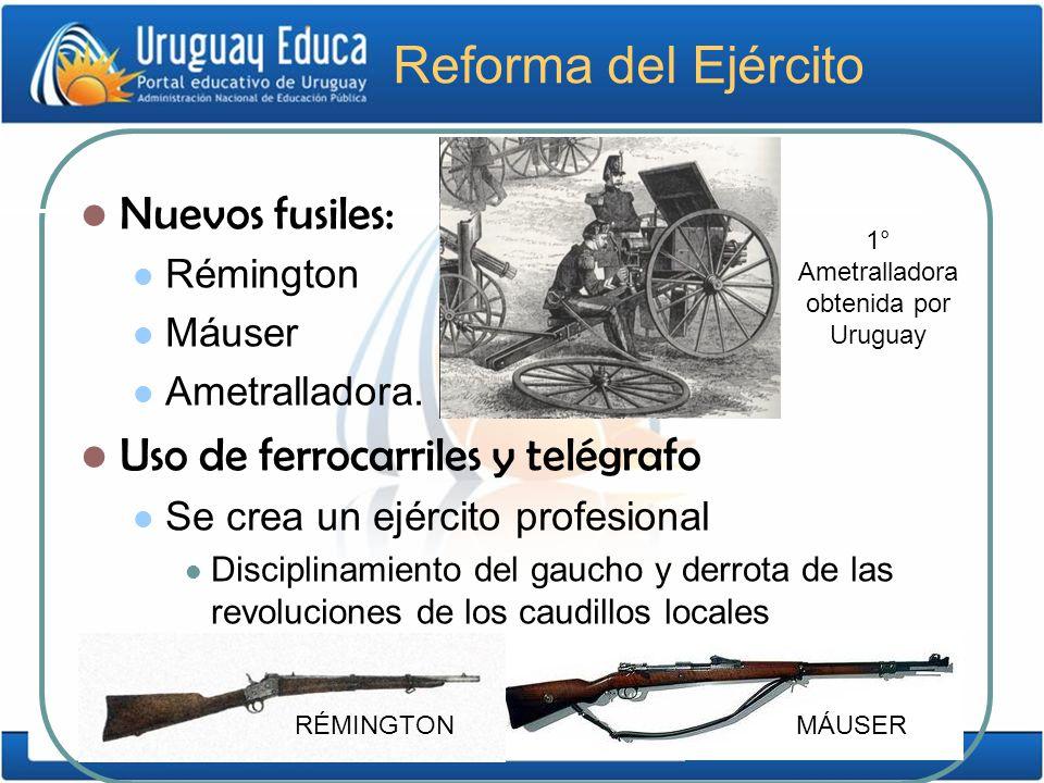 1° Ametralladora obtenida por Uruguay