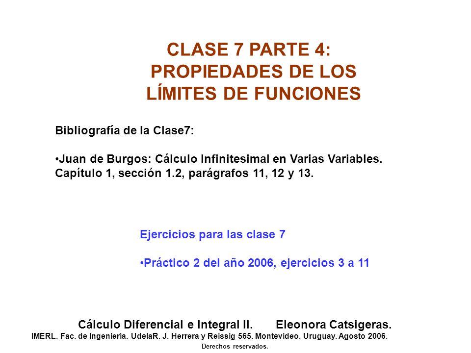 Cálculo Diferencial e Integral II. Eleonora Catsigeras.
