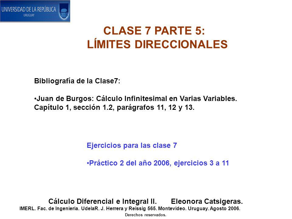 CLASE 7 PARTE 5: LÍMITES DIRECCIONALES