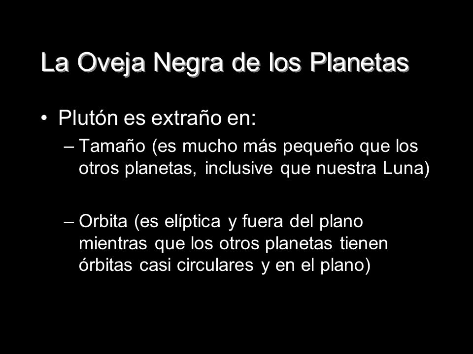 La Oveja Negra de los Planetas