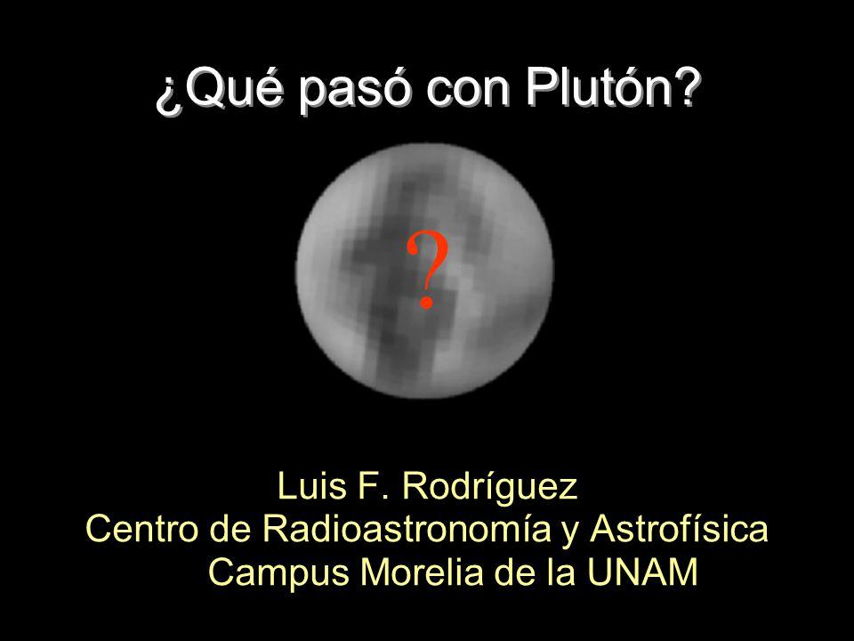 ¿Qué pasó con Plutón Luis F. Rodríguez