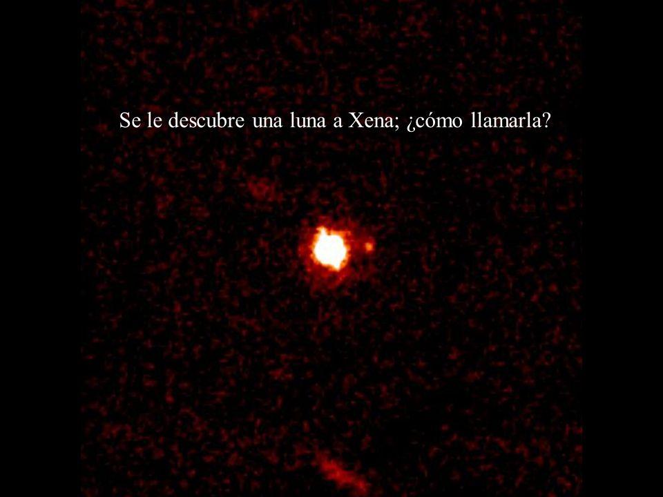 Se le descubre una luna a Xena; ¿cómo llamarla