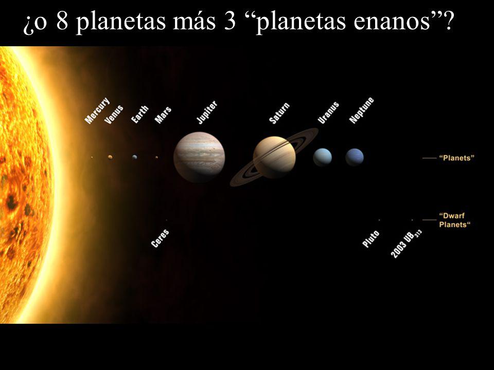 ¿o 8 planetas más 3 planetas enanos