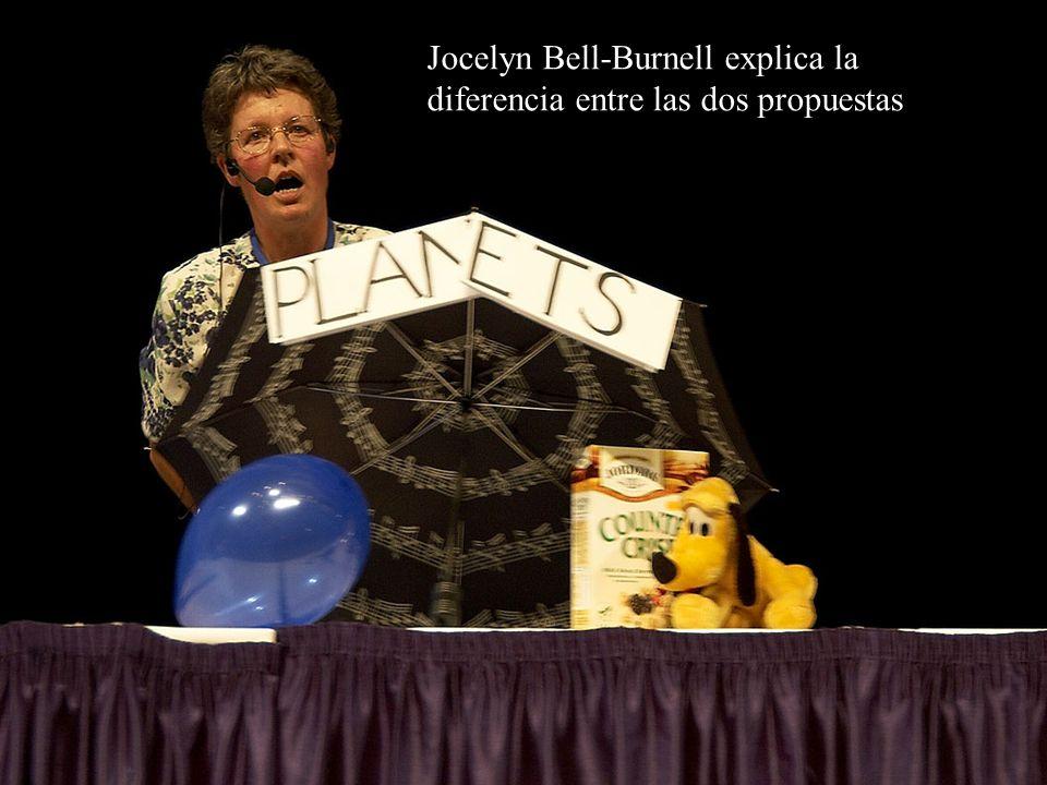 Jocelyn Bell-Burnell explica la diferencia entre las dos propuestas