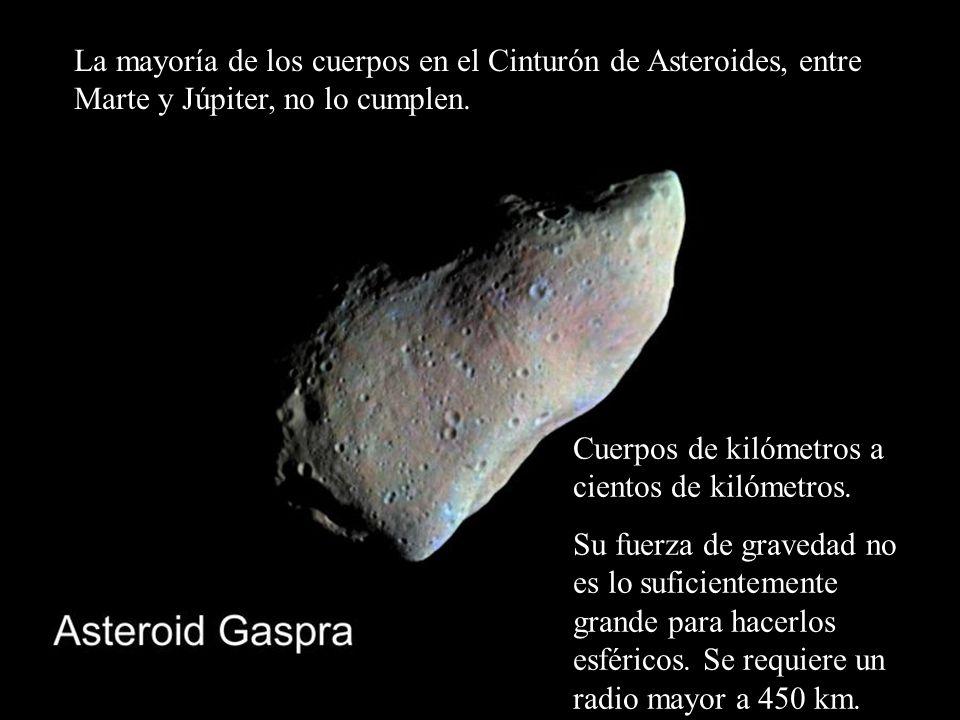 La mayoría de los cuerpos en el Cinturón de Asteroides, entre Marte y Júpiter, no lo cumplen.