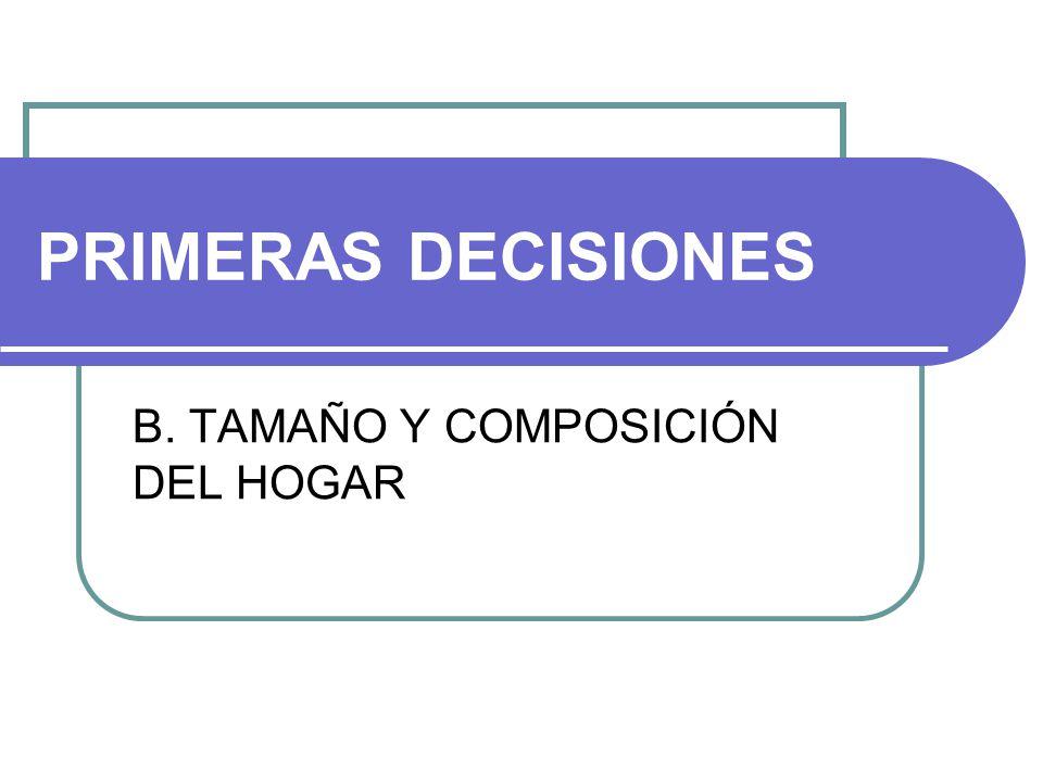 B. TAMAÑO Y COMPOSICIÓN DEL HOGAR
