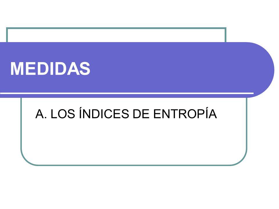 A. LOS ÍNDICES DE ENTROPÍA
