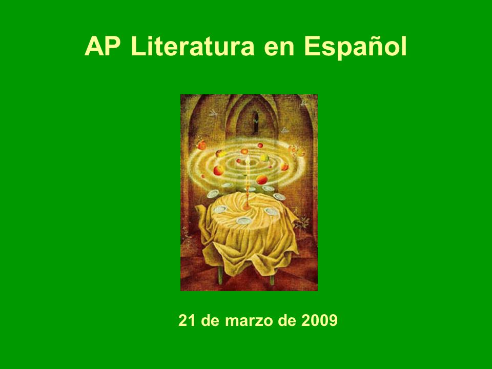 AP Literatura en Español
