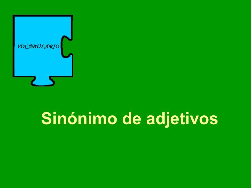 Sinónimo de adjetivos