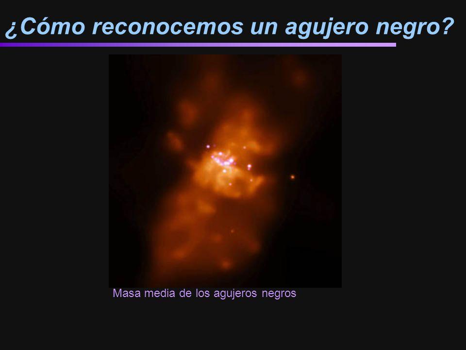 ¿Cómo reconocemos un agujero negro