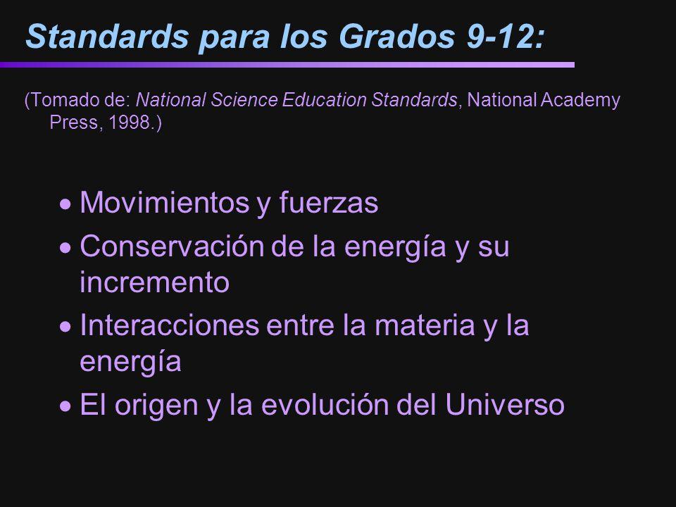 Standards para los Grados 9-12: