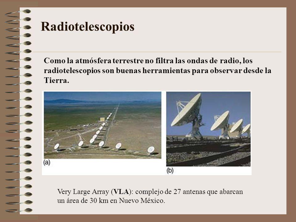 Radiotelescopios Como la atmósfera terrestre no filtra las ondas de radio, los. radiotelescopios son buenas herramientas para observar desde la.