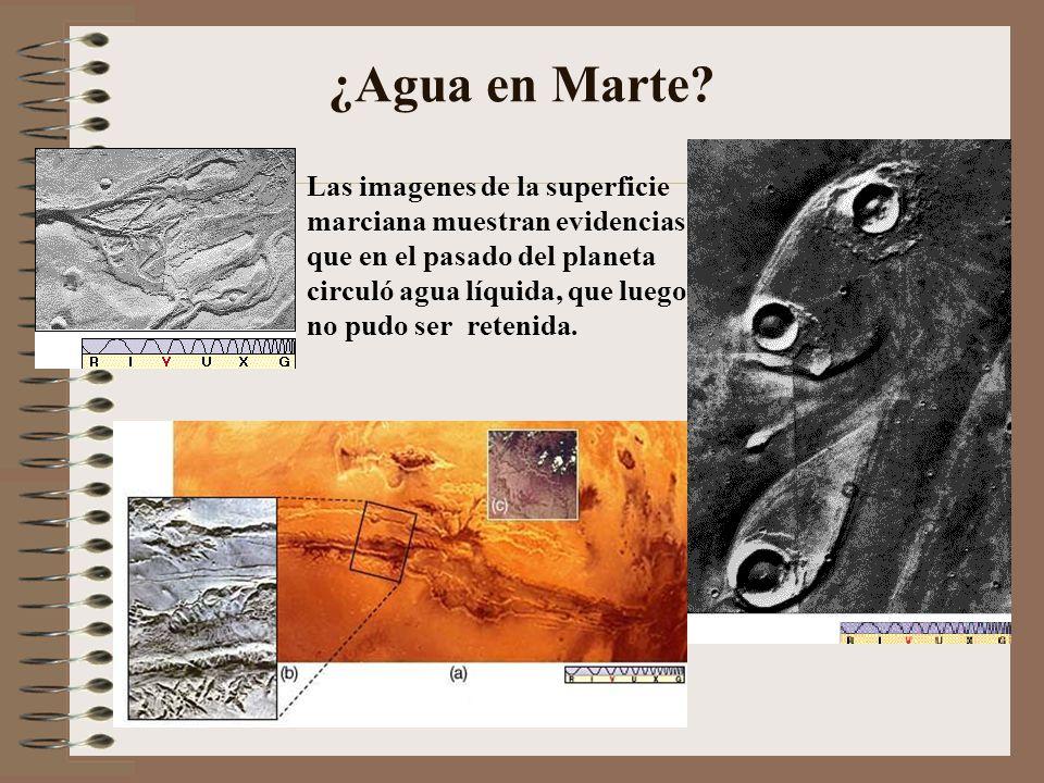 ¿Agua en Marte Las imagenes de la superficie