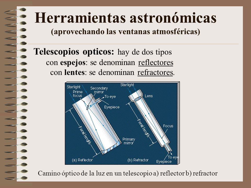 Herramientas astronómicas (aprovechando las ventanas atmosféricas)