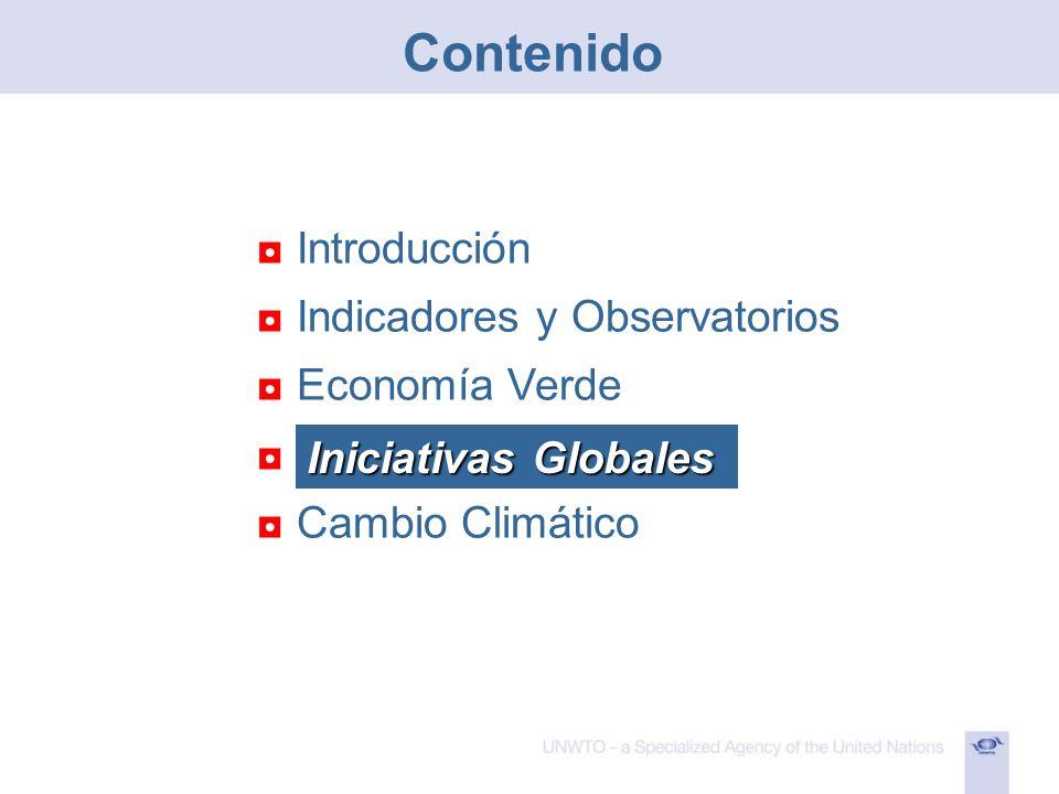 Contenido Introducción Indicadores y Observatorios Economía Verde