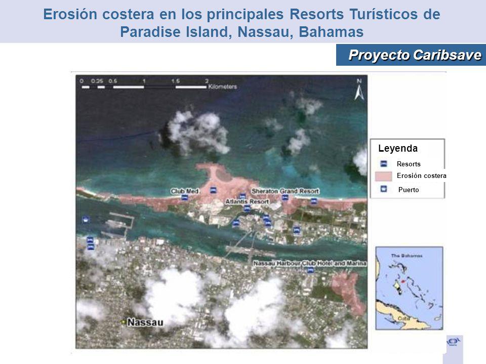 Erosión costera en los principales Resorts Turísticos de Paradise Island, Nassau, Bahamas