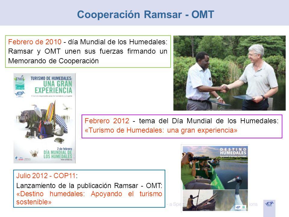 Cooperación Ramsar - OMT