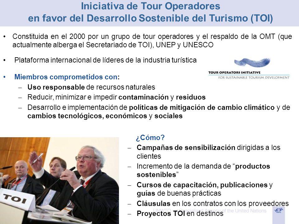 Iniciativa de Tour Operadores en favor del Desarrollo Sostenible del Turismo (TOI)