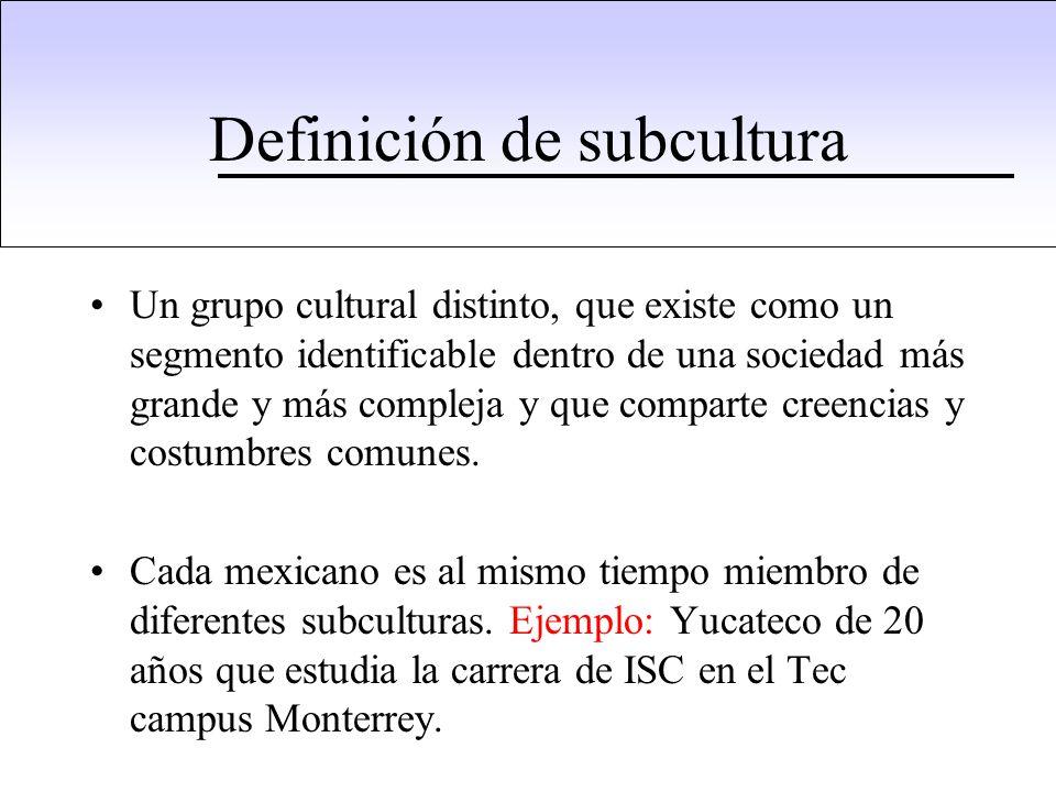 Definición de subcultura