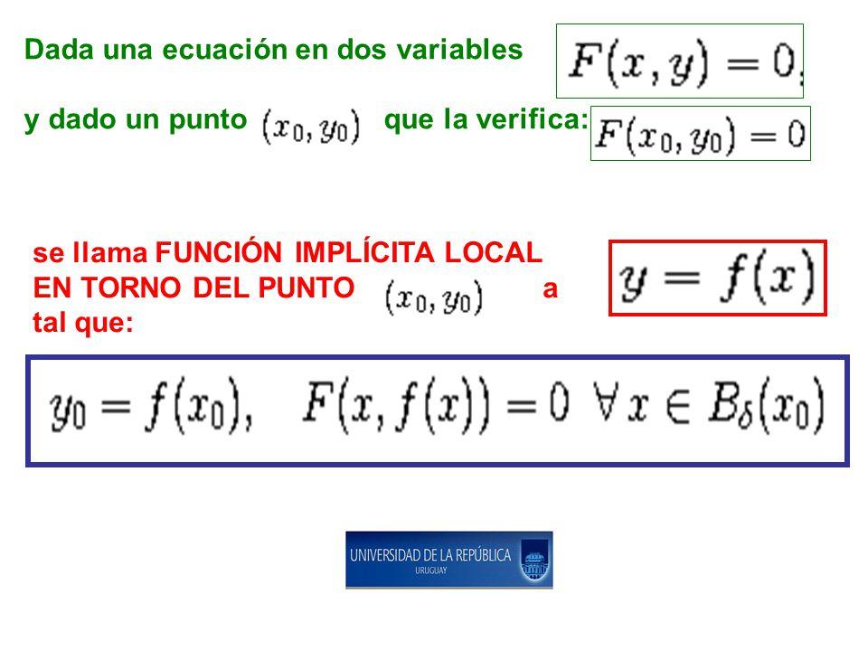 Dada una ecuación en dos variables
