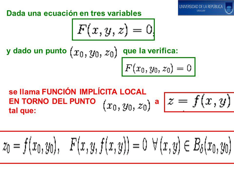 Dada una ecuación en tres variables