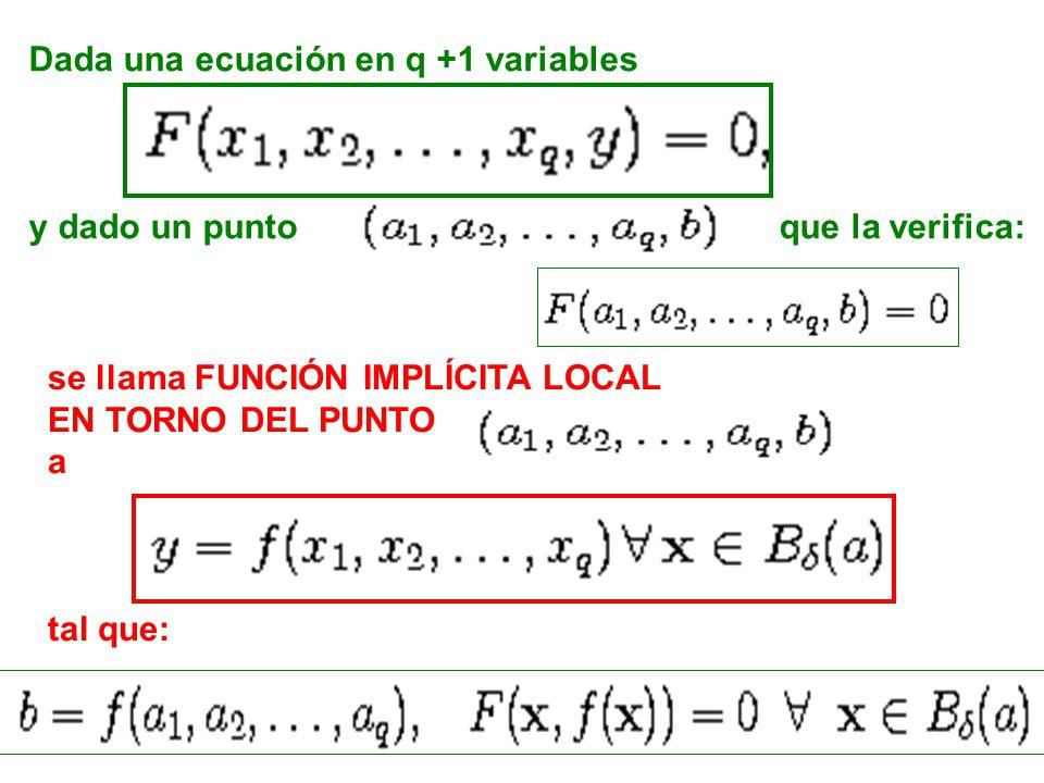 Dada una ecuación en q +1 variables