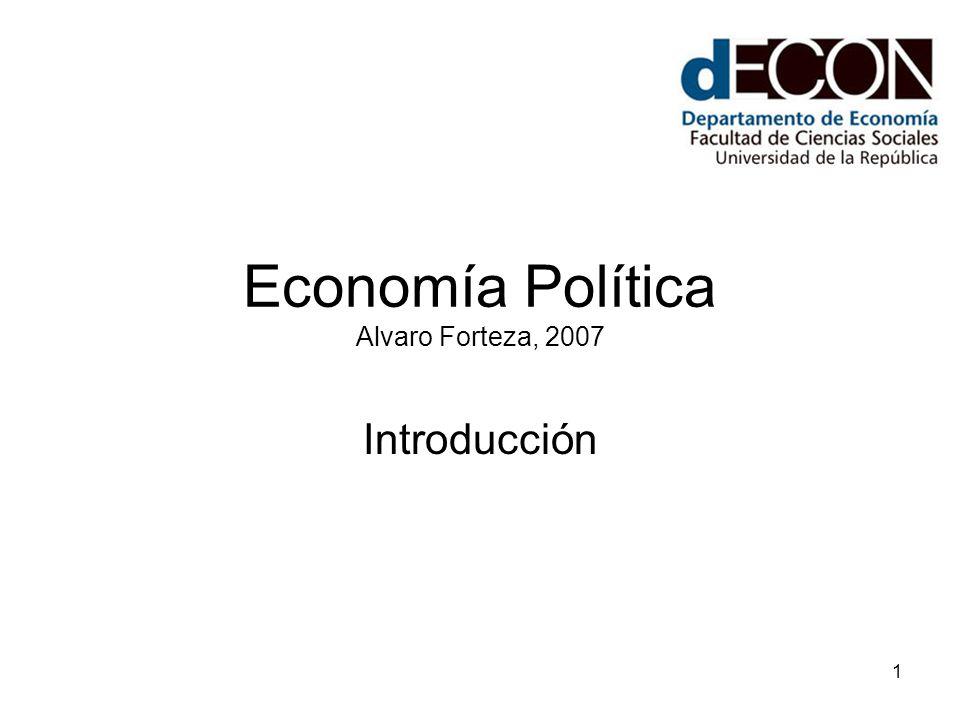 Economía Política Alvaro Forteza, 2007