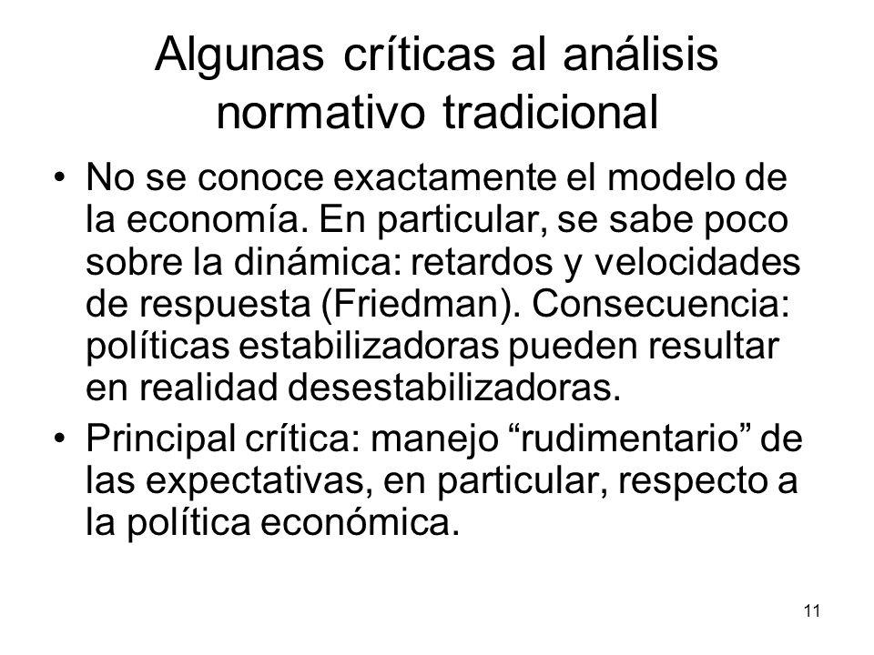 Algunas críticas al análisis normativo tradicional