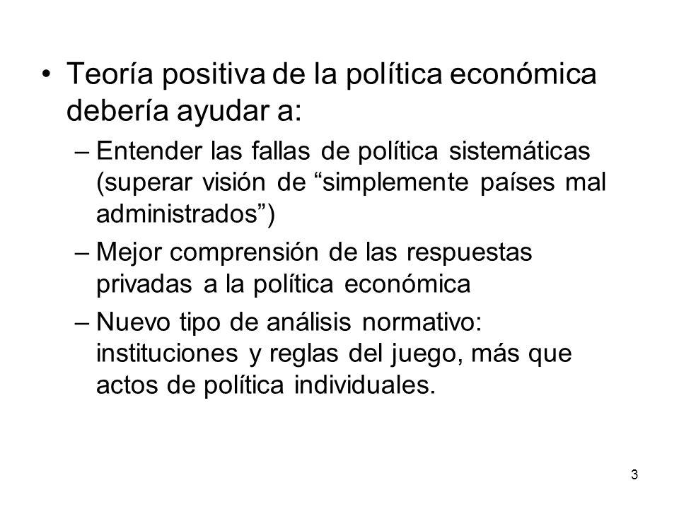 Teoría positiva de la política económica debería ayudar a: