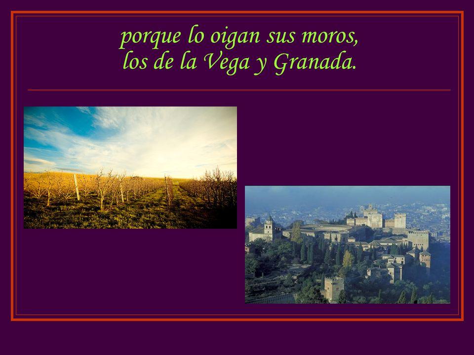 porque lo oigan sus moros, los de la Vega y Granada.