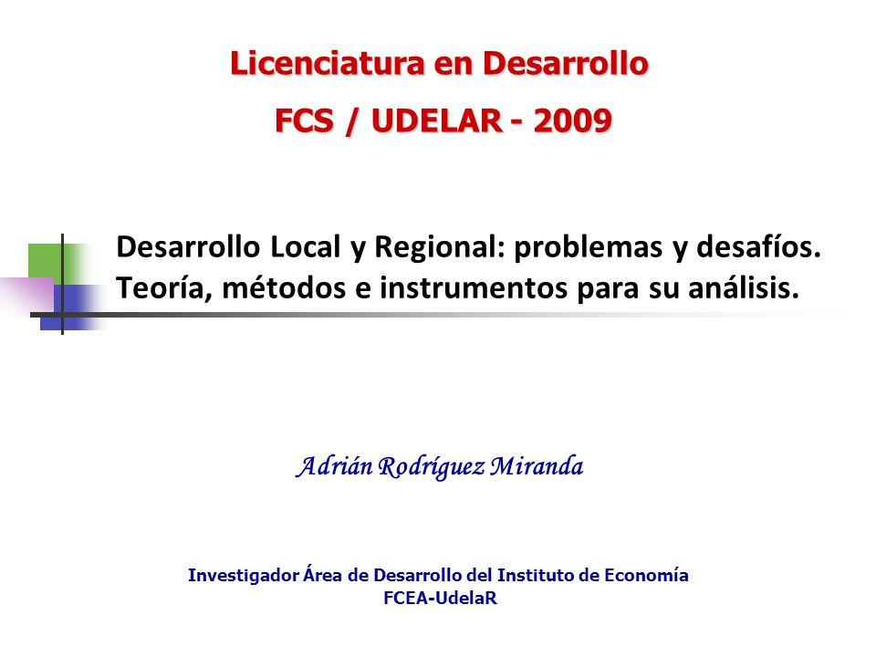 Investigador Área de Desarrollo del Instituto de Economía FCEA-UdelaR