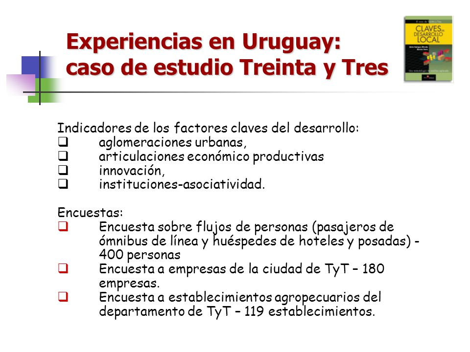 Experiencias en Uruguay: caso de estudio Treinta y Tres