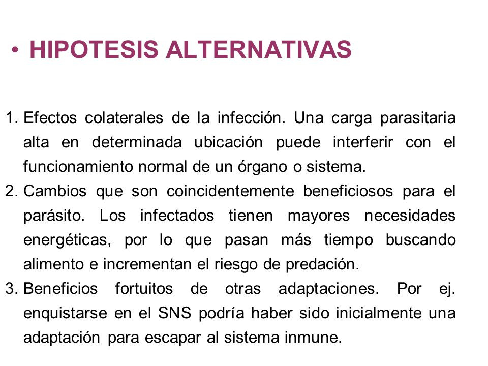 HIPOTESIS ALTERNATIVAS