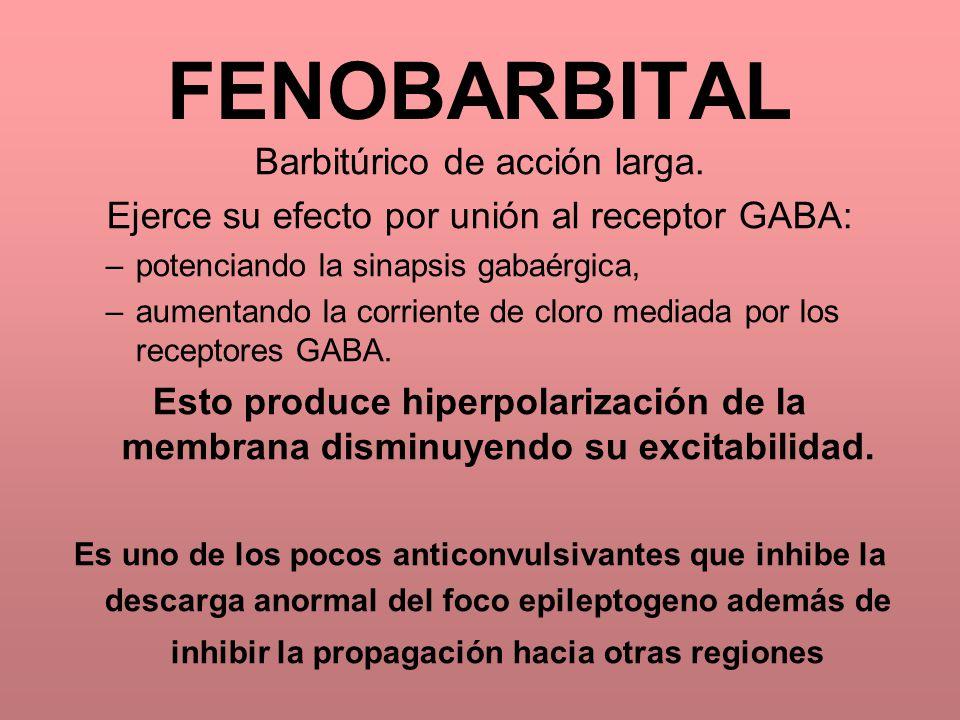 FENOBARBITAL Barbitúrico de acción larga.