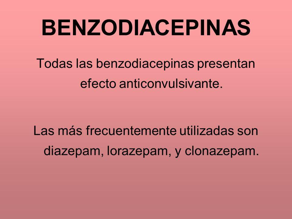 Todas las benzodiacepinas presentan efecto anticonvulsivante.