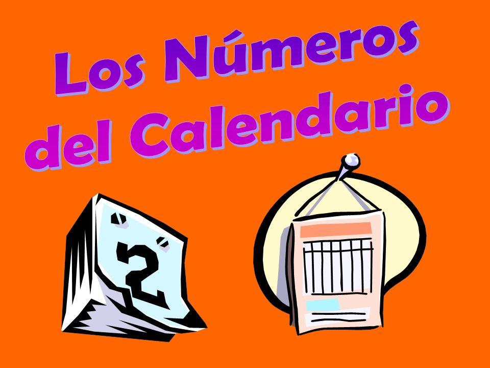 Los Números del Calendario