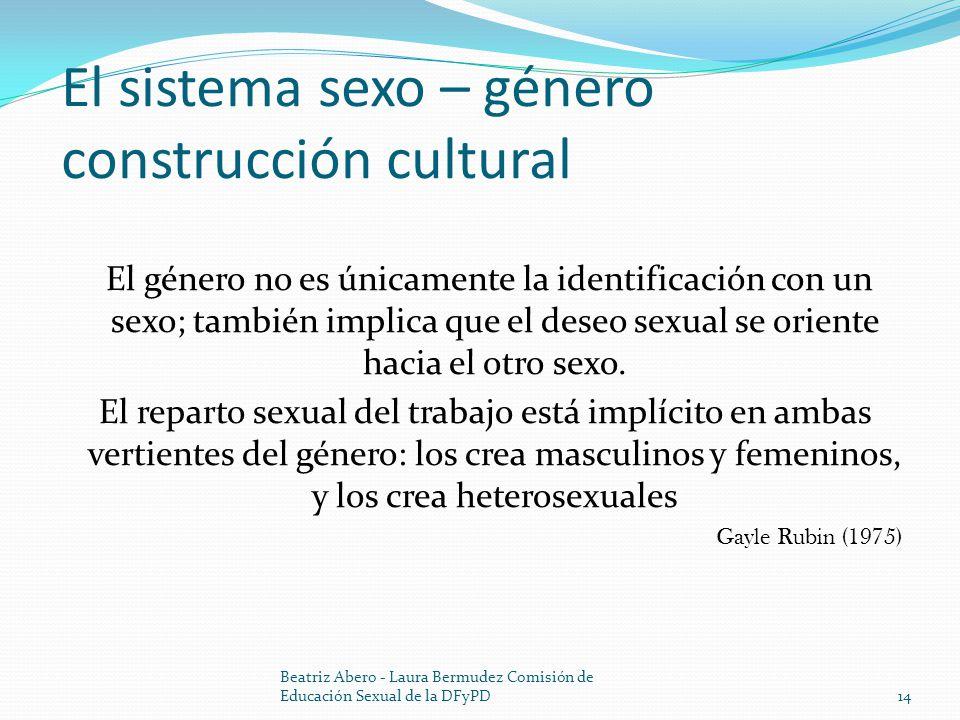 El sistema sexo – género construcción cultural